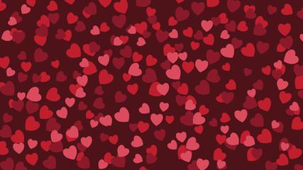 Widescreen heart background. EPS 10 vector illustration.