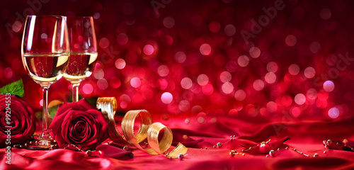 lovely babes are getting covered with roses and champagne  205162