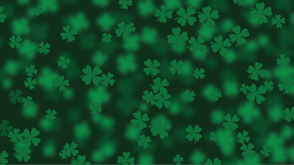 Widescreen clover background. EPS 10 vector illustration.