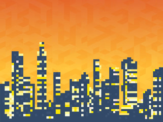Cityscape  skyscrapers