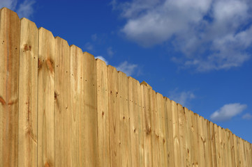 wood fence perspective view