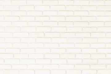 Surface white wall of brick wall brown sepia tones for use as background. The new design of modern white stone wall. Pattern of decorative gray stone wall surface.