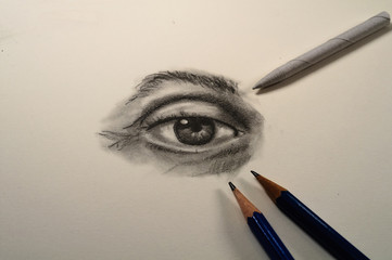 Pencil Drawing of an Eye