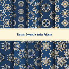 Wall Mural - Abstract geometric vector patterns
