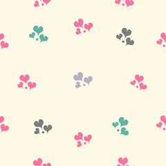 Wall Mural - Beautiful vector seamless pattern with hearts