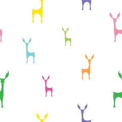 Deer vector art background design for fabric and decor. Seamless