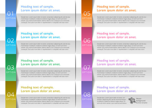 Infographics Web Banner & Label Design, Accordion pleat