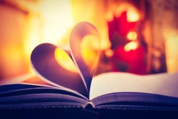 romantic heart on paper