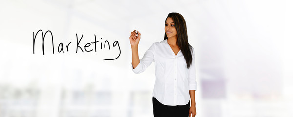 Woman Doing Marketing