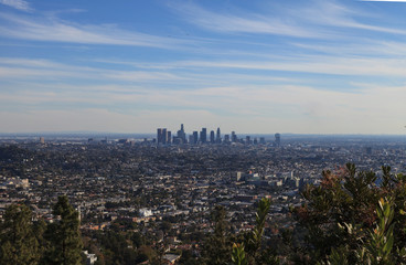 Los Angeles skyline from the Griffith Observatory in Southern California, United States
