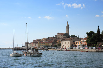 Old town Rovinj in the summer day in Croatia