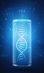 Digital illustration DNA structure