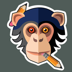 Monkey Stickers and Monkey Sticker Designs