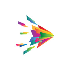 Modern Multi Color Sparkling Logo
