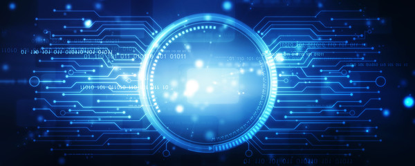 Obraz Sci fi futuristic user interface - fototapety do salonu