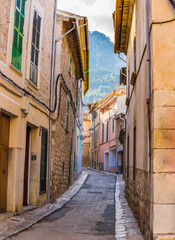 Fotomurales - View of an small street of a idyllic old mountain village