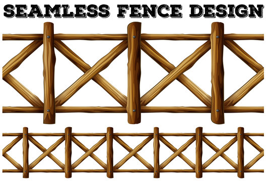 Fence design with wooden fence