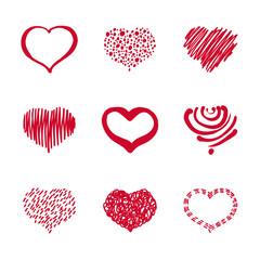 37_Set of Hand-drawn Heart