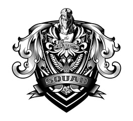"Ornamental Baroque Heraldry Shield ""Royal Squad"""