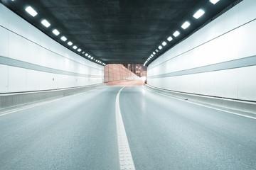 Foto auf Acrylglas Tunel City tunnel road viaduct of night scene