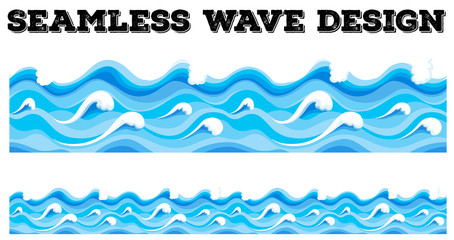 Seamless blue wave design