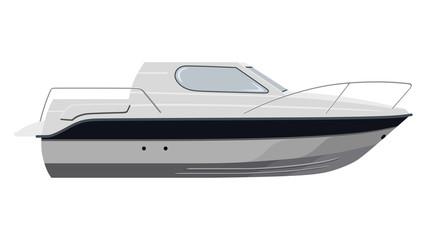 White motorboat
