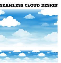 Seamless cloud on blue sky illustration