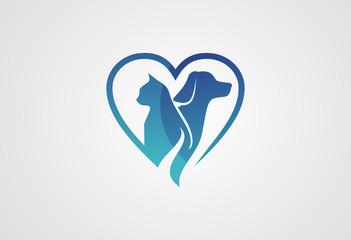 Love Pet Logo vector