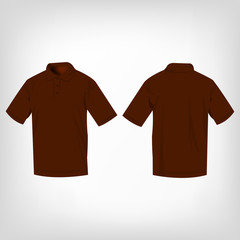 Brown polo shirt isolated vector