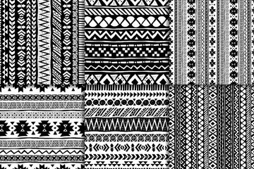 Seamless ethnic pattern set