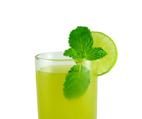 sugarcane juice with mint leaves