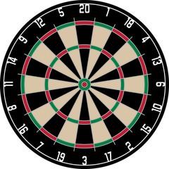 Dartscheibe Dart Bullseye Dartpfeil