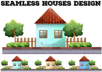 Seamless house design on the road