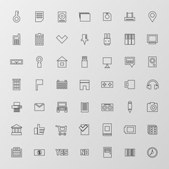 Universal Flat Icons. For Web and Mobile