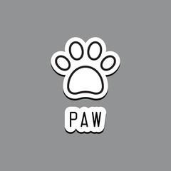 Paw Print. Vector illustration