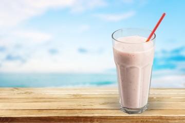 Spoed Foto op Canvas Milkshake Smoothie.