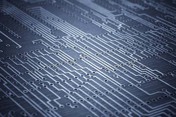 Macro shoot of blank microcircuit board