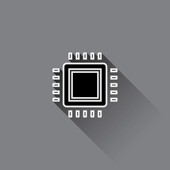Processor icon. Central Processing Unit Icon. Vector illustration