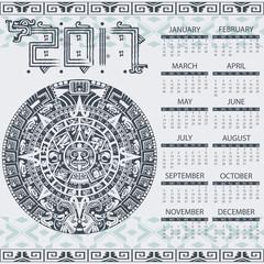 Aztec calendar 2017