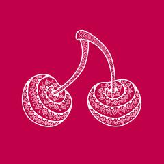 Doodles Ornament Cherry