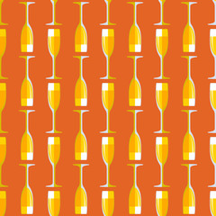 colored champagne glass seamless pattern.
