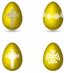 Easter eggs with crosses