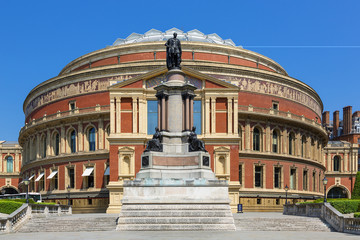 Main steps up to Royal Albert Hall.