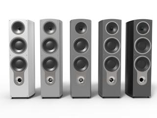 Monochrome gradient colored speakers