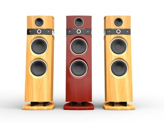 Hi-tech speakers - wooden variations