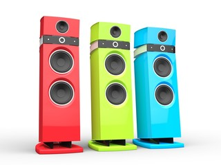 Hi-tech speakers - RGB variations