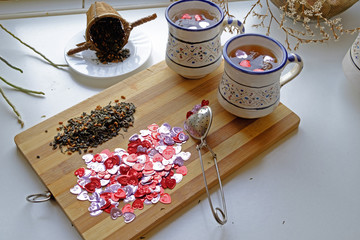 Valentine's day tea for two landscape top