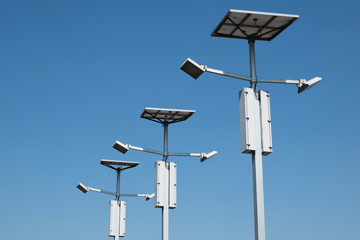 Street lighting with solar panels Fotomurales