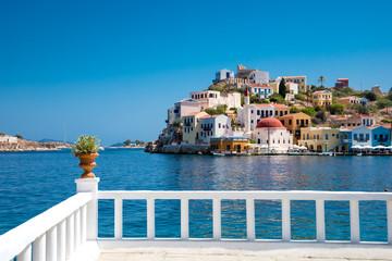 Mediterranean Greek island Kastellorizo ( Megisti).