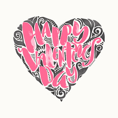 Happy valentines day love concept hand lettering motivation post